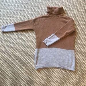 BCBG color block turtle neck sweater